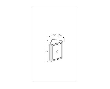 Зеркало Клио угловое, правое Opadiris Z0000013940