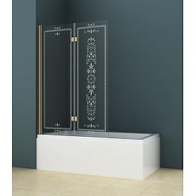 Шторки на ванну распашной ROYALPALACE (Cezares) ROYALPALACE-V-21-120/145-CP-Br
