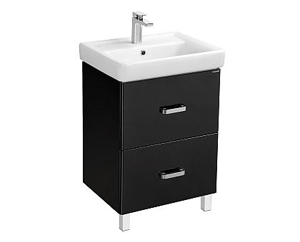 Мебель для ванной Америна 70 Н черная Aquaton 1A169301AM950 (Тумба + раковина + зеркало)