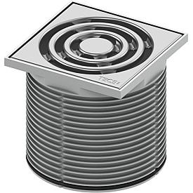 Декоративная решетка в пластиковой рамке TECE drainpoint S 3660001 100 мм