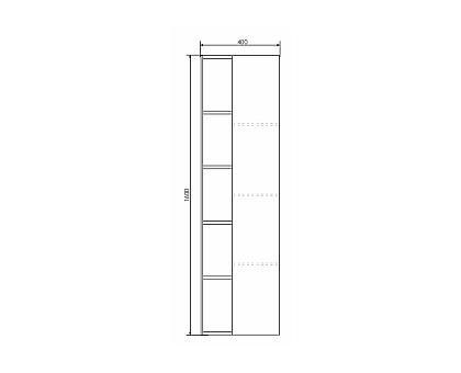 Шкаф-колонна Comforty Милан-40 00004136467