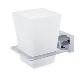 RAMBA Стакан настенный, хром/матовое стекло