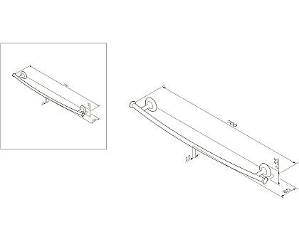 Вешалка для полотенец AM.PM Like A80346400 55 мм