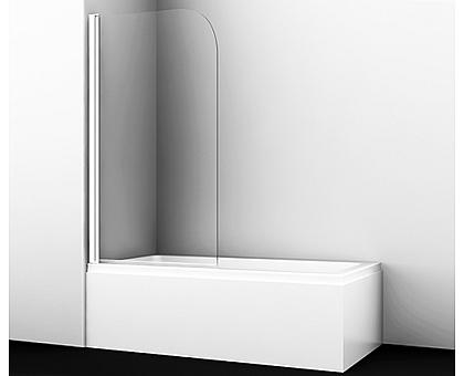 35P01-80WHITE Стеклянная шторка на ванну WasserKRAFT