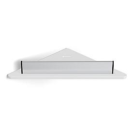 Полка угловая белая с ораничителем-скребок LANGBERGER 73451-WH