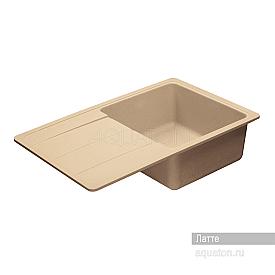 Мойка для кухни Аманда прямоугольная с крылом латте Aquaton 1A712832AD260