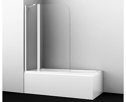 35P02-110WHITE Fixed Стеклянная шторка на ванну WasserKRAFT