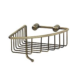 BASKET Решетка угловая 16,5х16,5хh12,6 см., с крючком, бронза