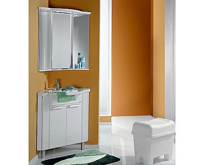 Мебель для ванной Альтаир 62 угловой белый Aquaton 1A042601AR010 (Тумба + раковина + зеркало)