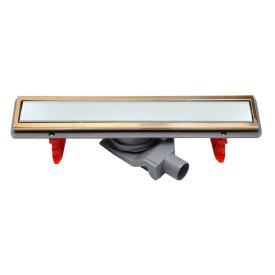 Душевой лоток Pestan Confluo Premium White Glass Line 300 Gold 13100088