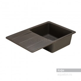 Мойка для кухни Аманда прямоугольная с крылом кофе Aquaton 1A712832AD280