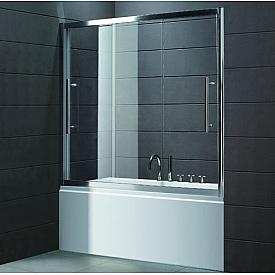 Шторка на ванну Cezares TRIO-V-22-150/145-C-Cr