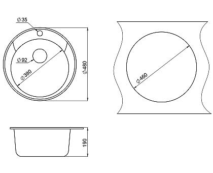 Мойка для кухни кварцевая Paulmark Gelegen PM404800-GR
