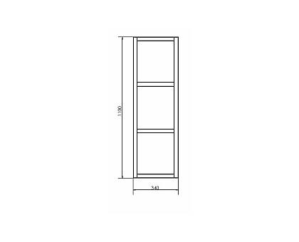 Шкаф Comforty подвесной открытый Comforty Дюссельдорф-35М 00004148024