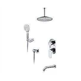 А175868 Встраиваемый комплект для ванны с верхней душевой насадкой, лейкой и изливом WasserKRAFT