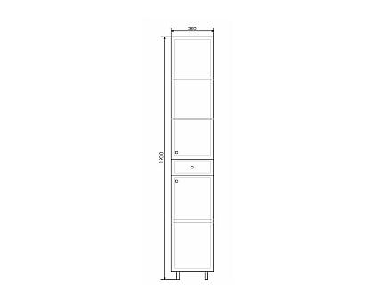 Шкаф-колонна Comforty Сочи-35 00004136987