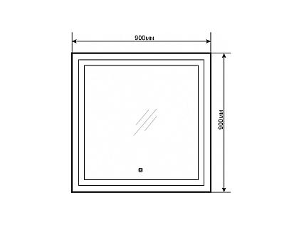 Зеркало Comforty Квадрат-90 светодиодная лента сенсор 900x900 00004140522