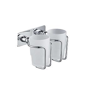 Стакан для зубных щеток двойной Timo Nelson 150032/00 хром