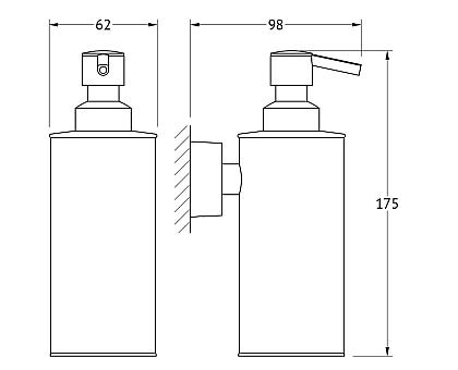 Дозатор жидкого мыла (хром) FBS NOS 011