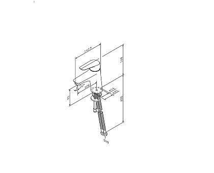 F85E02100 Joyсмеситель для умывальника хром