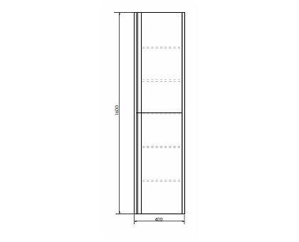 Шкаф-колонна Comforty Эдинбург-40 00004147998