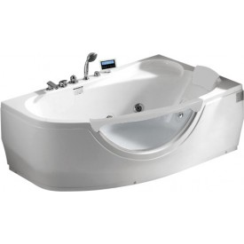 Ванна угловая с антискользящим покрытием Gemy 161х96 G9046 K R