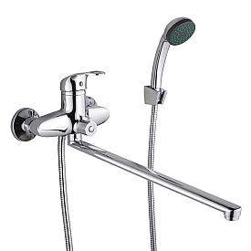 PONT Смеситель д/ванны монокомандный, с поворотным изливом L40 см. и ручным душем, хром