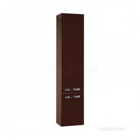 Шкаф - колонна Ария М подвесная темно-коричневая Aquaton 1A124403AA430