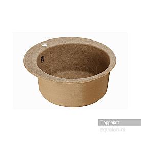 Мойка для кухни Иверия круглая терракотовая Aquaton 1A711032IV270
