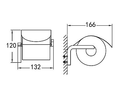 Держатель туалетной бумаги подвесной ART&MAX AM-F-8935
