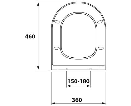 Сиденье DP микролифт для унитаза OWL OWLC19-003