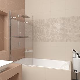 Шторка на ванну Veconi PL80-80-01-19C1