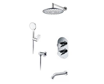 А174819 Thermo Встраиваемый комплект для ванны с верхней душевой насадкой, лейкой и изливом WasserKRAFT