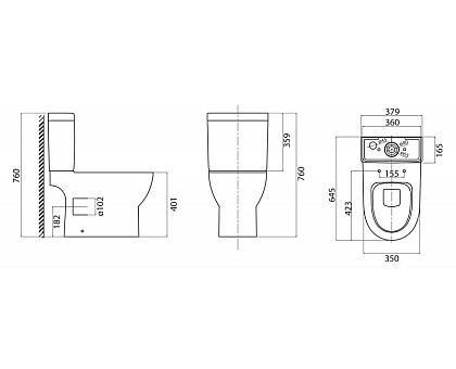 Чаша унитаза BelBagno BB130CPR