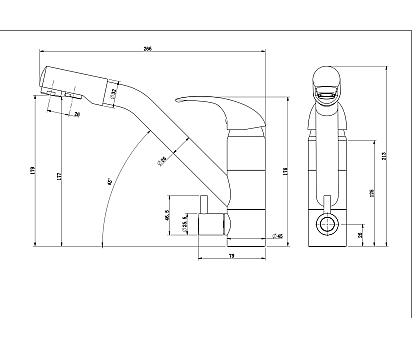 Смеситель для кухни Paulmark Hessen He213017-308