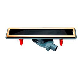Душевой лоток Pestan Confluo Premium Black Glass Line 550 Gold 13100096