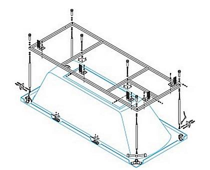 Металлический каркас для ванны BelBagno BB102-170-70-MF