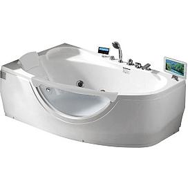 Ванна угловая с антискользящим покрытием Gemy 161х96 G9046 O L
