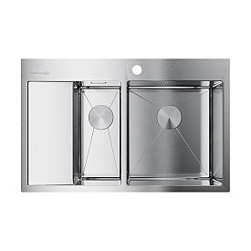 Кухонная мойка Omoikiri Akisame 78-2-IN-R 4973063 нержавеющая сталь