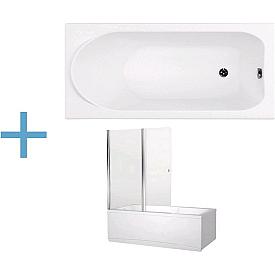 Прямоугольная акриловая ванна Aquanet  00204020 , 00196049