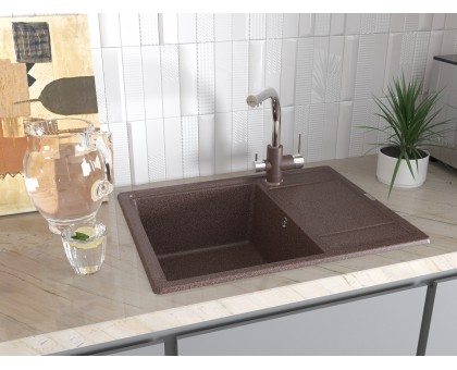 Мойка для кухни кварцевая Paulmark Weimar PM216550-CH