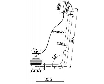 Слив-перелив BelBagno BB567-OVF-CRM