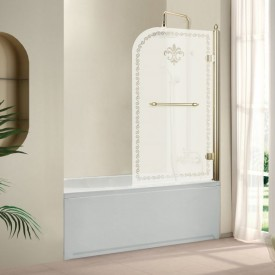 Шторки на ванну распашной RETRO (Cezares) RETRO-V-1-80/145-PP-G-R