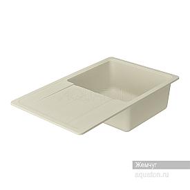 Мойка для кухни Аманда прямоугольная с крылом жемчуг Aquaton 1A712832AD240