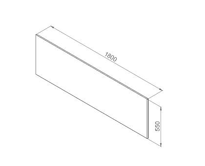 W52A-180-080W-P Inspire 2.0 панель фронтальная для ванны 180х80 см