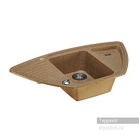 Мойка для кухни Лория угловая терракотовая Aquaton 1A715032LR270