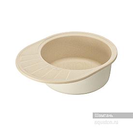 Мойка для кухни Чезана круглая с крылом шампань Aquaton 1A711232CS290