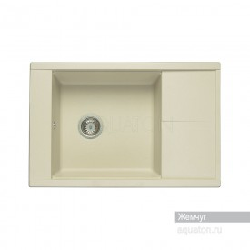 Мойка для кухни Делия 78 прямоугольная с крылом жемчуг Aquaton 1A715132DE240