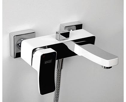 1061WHITE Смеситель для ванны с коротким изливом WasserKRAFT