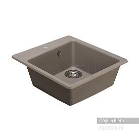 Мойка для кухни Парма квадратная серый шелк Aquaton 1A713032PM250
